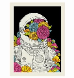 methane studios methane studios super nova astronaut screenprint 18 x 24