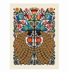 methane studios methane studios peacocks screenprint 16 x 20