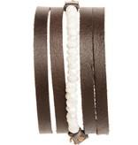 original hardware original hardware moonstone multi-wrap leather bracelet