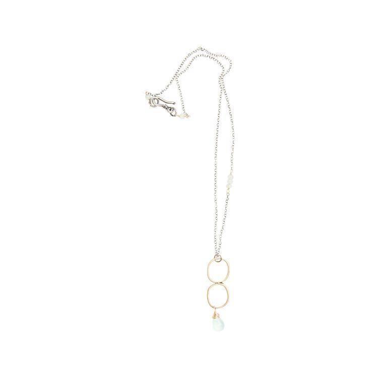 original hardware original hardware chalcedony/mixed metals necklace