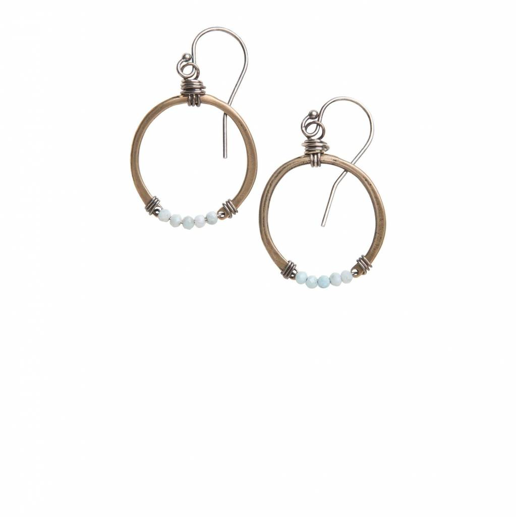 original hardware original hardware larimar horseshoe earrings