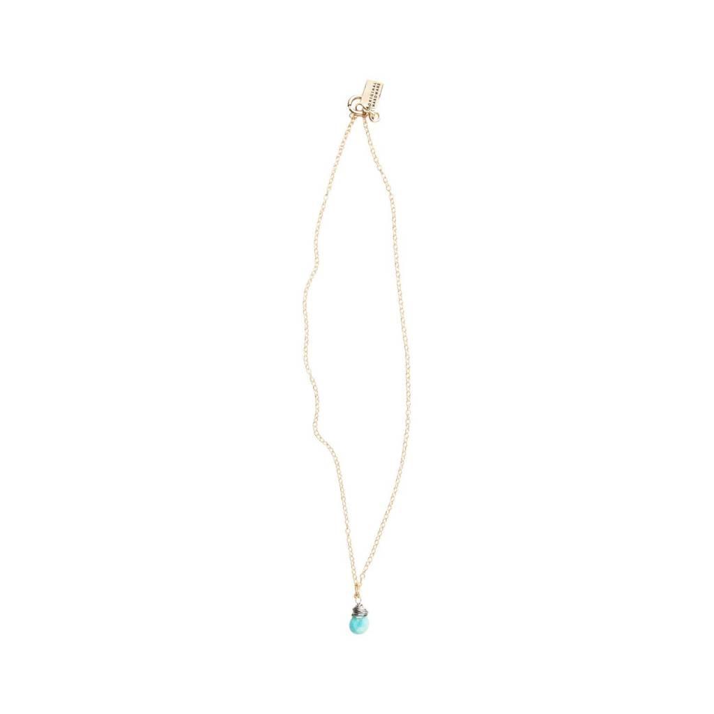 original hardware original hardware sleeping beauty turquoise drop necklace gold