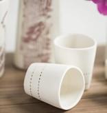 tandem ceramics tandem ceramics demi cup gold lurch lines