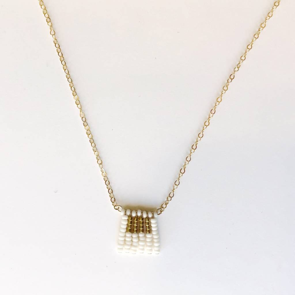 sidai designs sidai designs short block tassel necklace