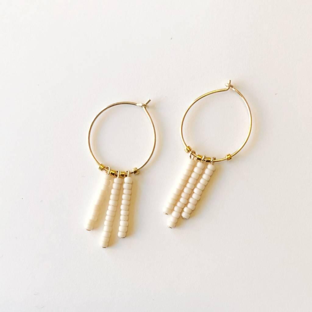 sidai designs sidai designs 3 drop extra small hoop earrings