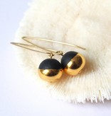 mier luo mier lou gold dipped pearl earrings