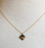 mier luo mier luo gold dipped square necklace