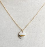 mier luo mier luo gold striped circle necklace