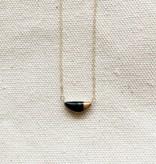 zoe comings zoe comings teeny half pebble necklace