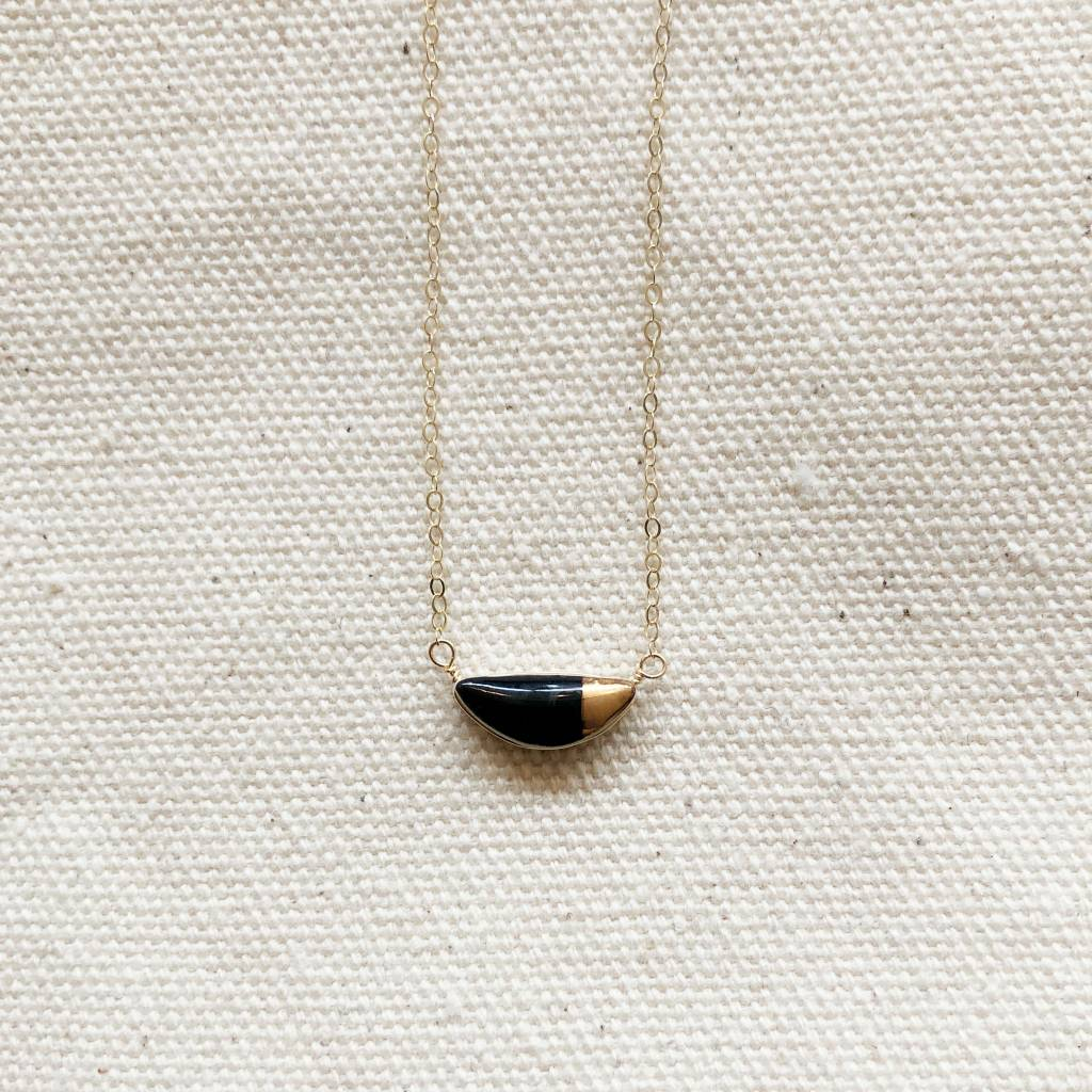 zoe comings zoe teeny half pebble necklace