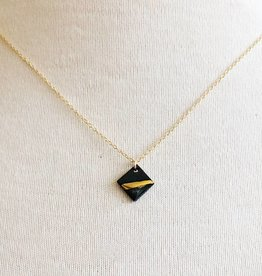 mier luo mier luo gold striped square necklace