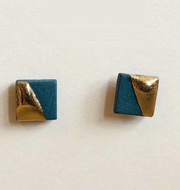 mier luo mier luo gold dipped square studs