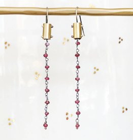 eric silva eric silva gem chain earrings
