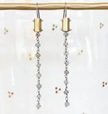 eric silva eric silva gem chain earrings