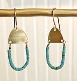 eric silva eric silva mini half oval earrings