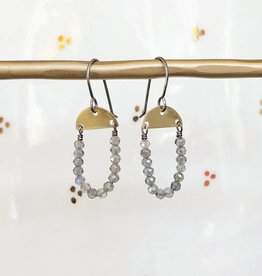 eric silva eric silva mini half moon earrings