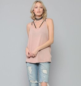 by together blank paige drape side cami