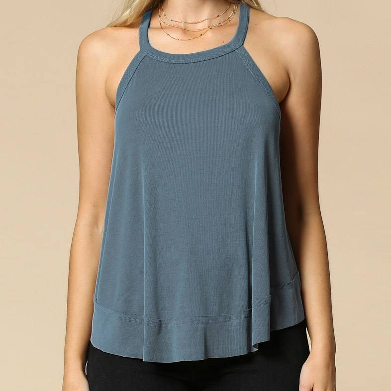 by together by together cupro racerback tank evergreen