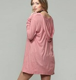 by together blank paige l/s vneck tunic hoodie mauve