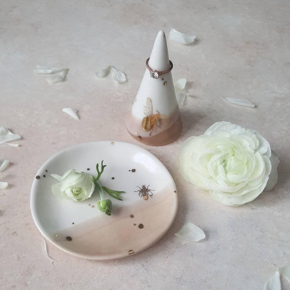 apricity ceramics apricity ceramics drops of honey ring dish