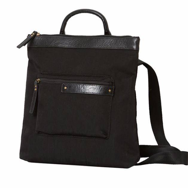 highway sam backpack w/ leather accents