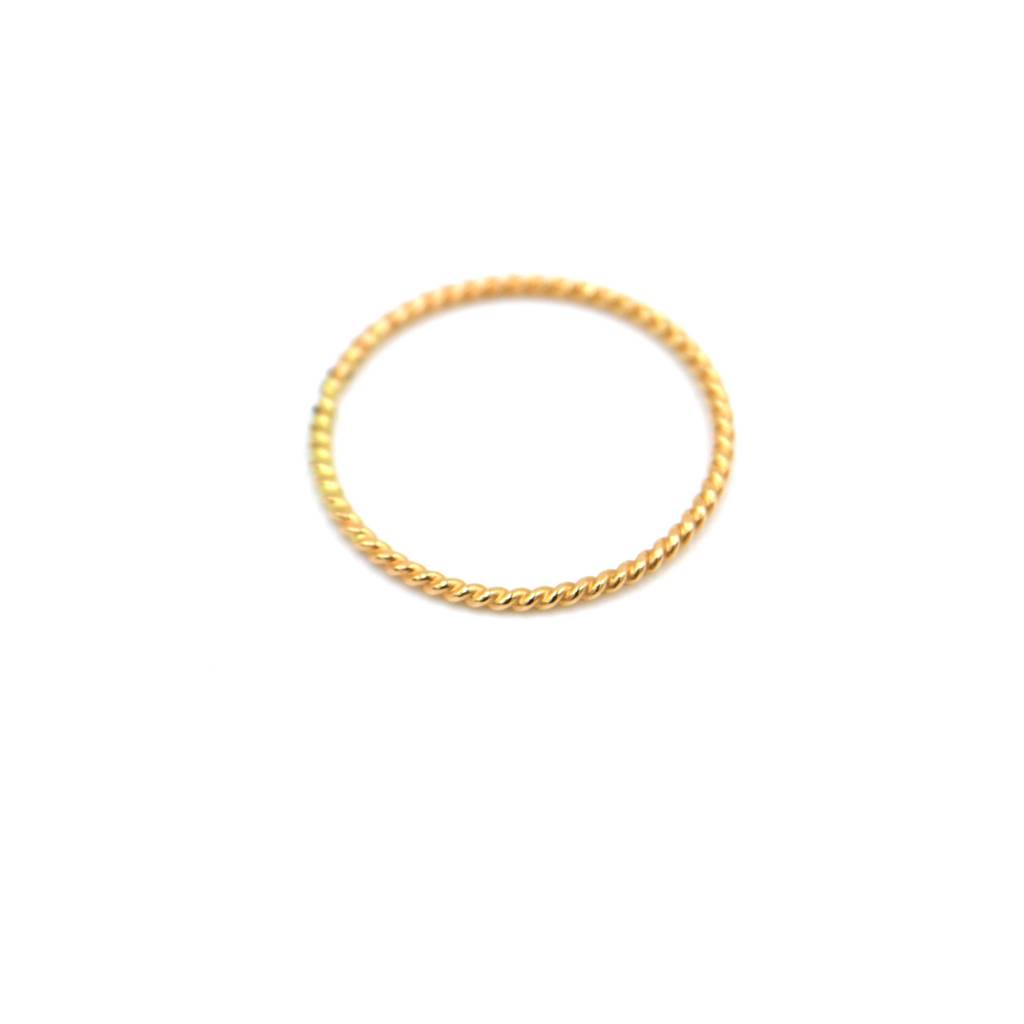 adorn512 rope ring gold