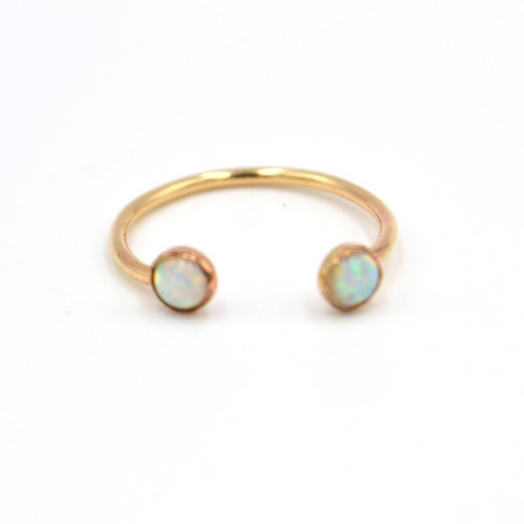 adorn512 double opal ring