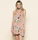 by together by together sleeveless pink floral gauze dress