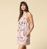 by together by together embroidered dress w/ pockets mauve
