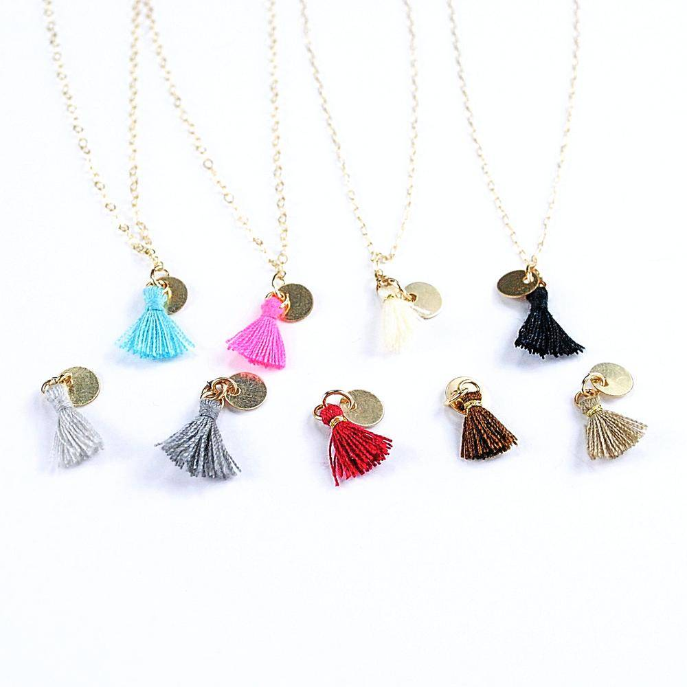 throwing stars jewelry throwing stars tiny tassel necklace