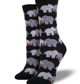 socksmith socksmith elephant love black