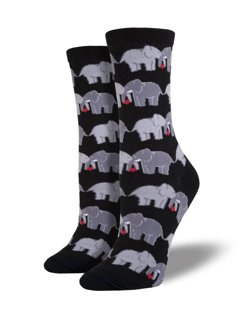 socksmith socksmith elephant love black