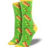 socksmith socksmith wiener dog green