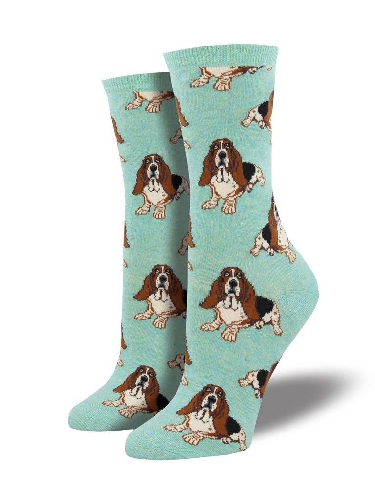 socksmith socksmith nothing but a hound dog heather mint