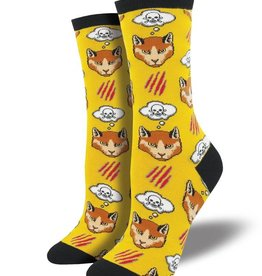 socksmith socksmith moody cat yellow