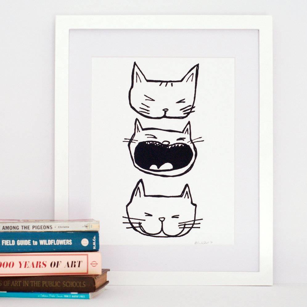 kristen solecki kristen solecki cat faces art print