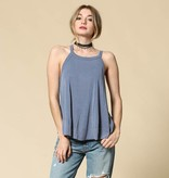 by together by together indigo blue racerback top