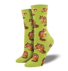 socksmith socksmith chipmunk cheeks green