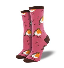 socksmith socksmith robin your heart pink