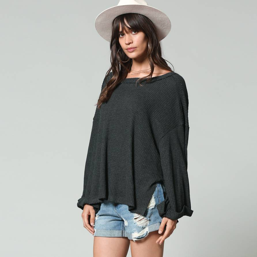 by together by together boatneck thermal top
