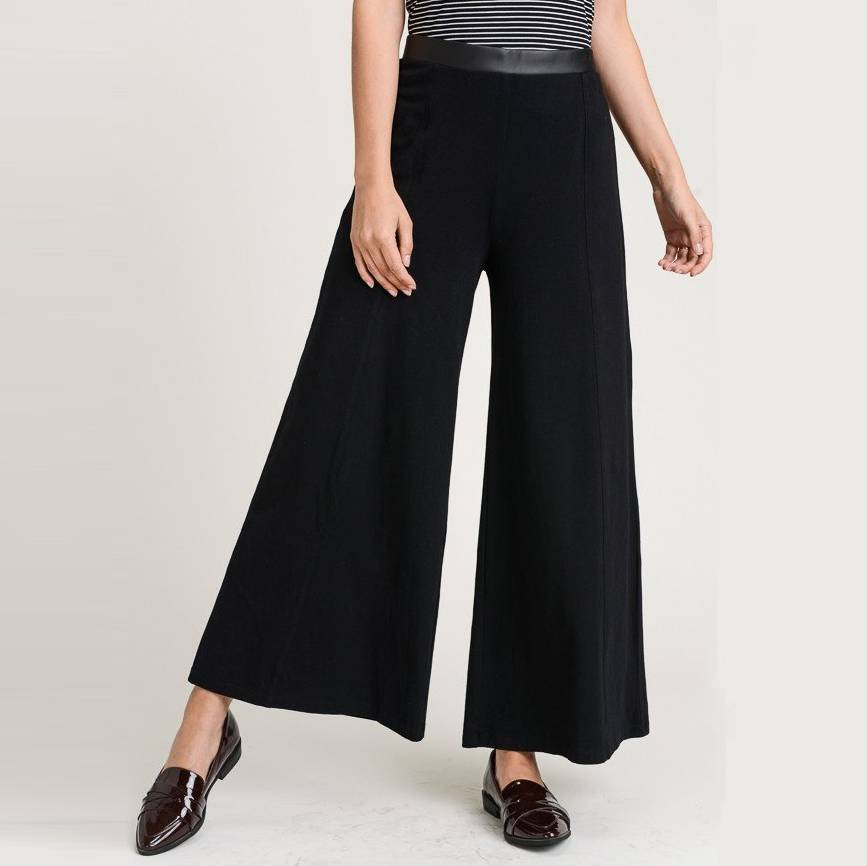 hem & thread hem & thread wide pant black