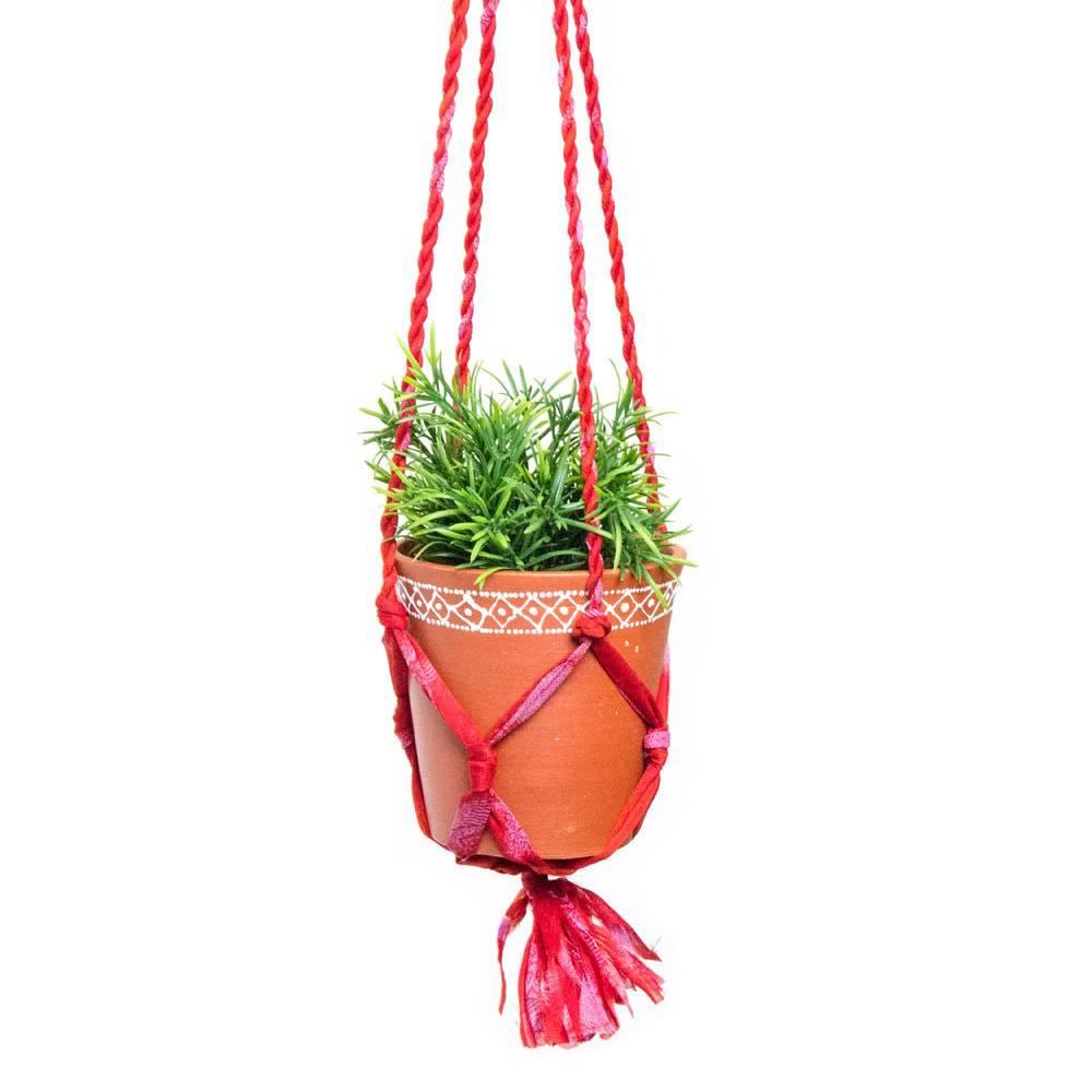 matr boomie matr boomie sari macrame hanging pot