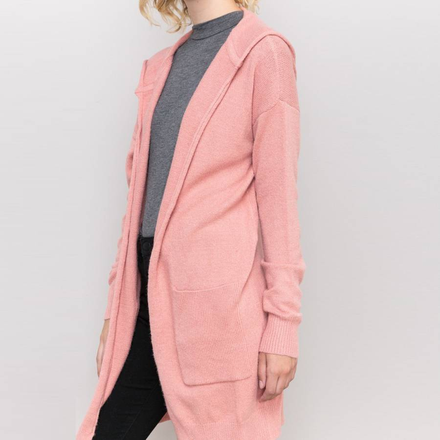 hem & thread hem & thread hooded cardigan