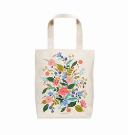 rifle paper rifle paper floral vines tote bag