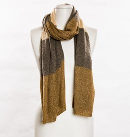 vsa vsa large beige colorblock scarf