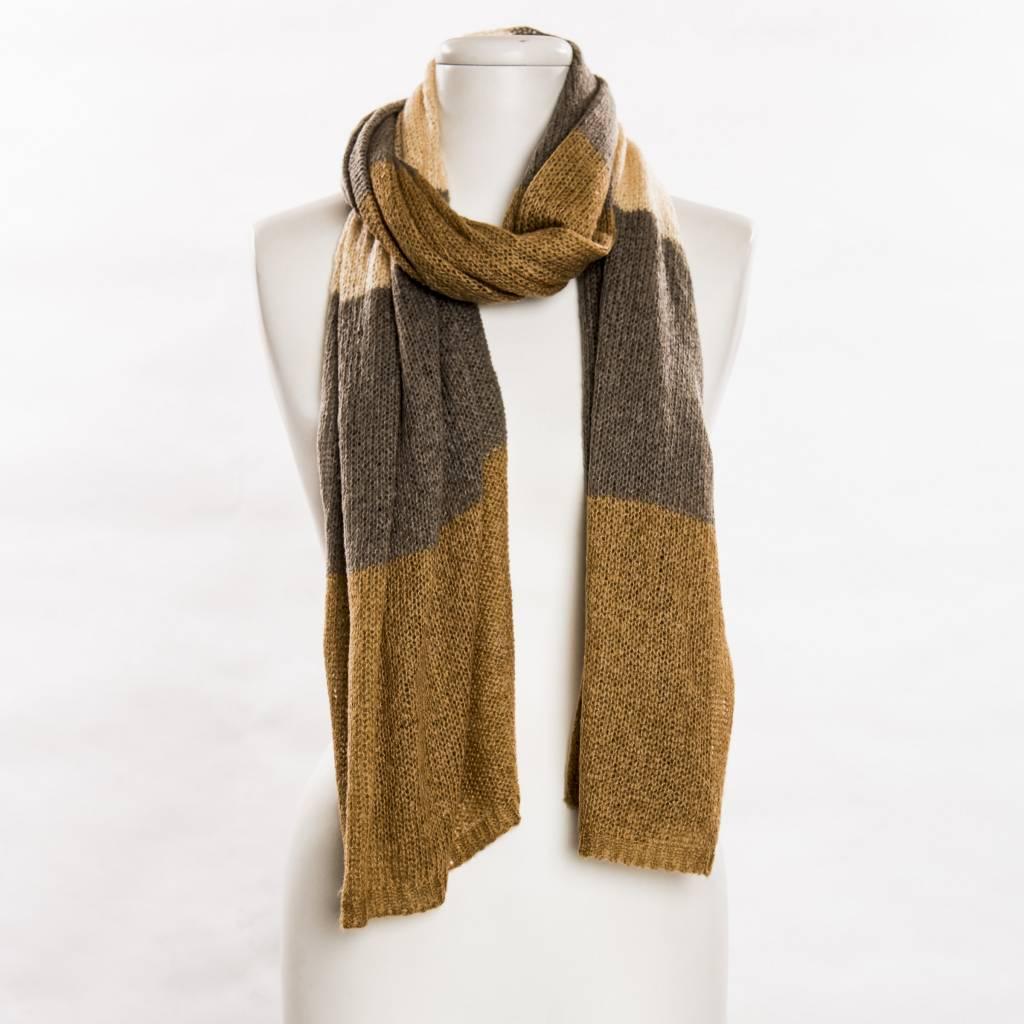 vsa vsa large beige colorblock scarf