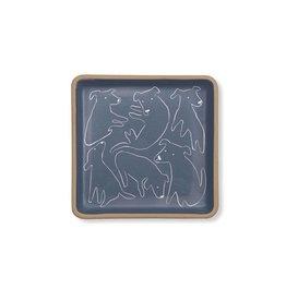 fringe studio nosey dog square dish