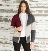 mystree mystree loopy color block cardigan sweater