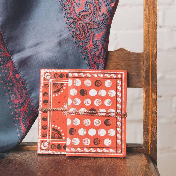 print fresh print fresh moon phase red bandana duo set