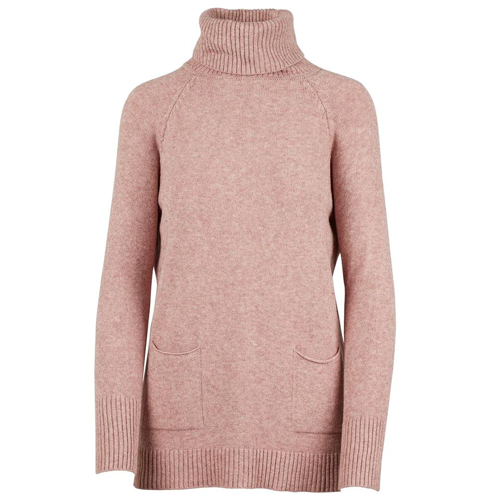m italia m italia knitted l/s sweater cowl w/ pockets blush